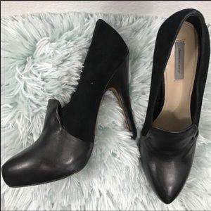 Classiques Entier Julia Black Leather Pumps Heels